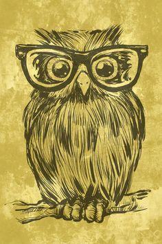 Spectacle Owl Art Print