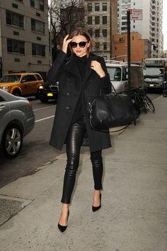 all black outfit | Miranda Kerr