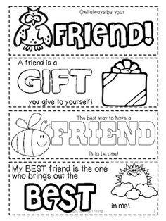 free friendship bookmarks