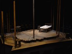 Scenic design - the crucible: Like the simplicity and versatility of this set.  The layout of the boards.