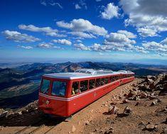 Cog Railway, Pikes Peak, Pike National Forest, Colorado Springs, Colorado at 14,115 feet