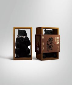 This is wild but clever #packaging. Bear Gall #wine