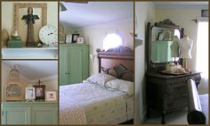 My Cottage Style/ Shabby Chic Bedroom  (From the home of Melissa Simmons-Cox)