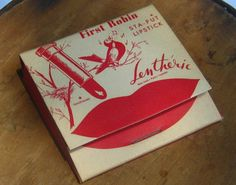 Vintage Matchbook Lipstick by Lentheric - First Robin Sta-Put Lipstick