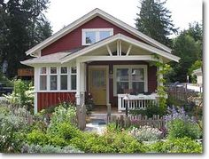 open white porch truss:  Small Homes by Ross Chapin Architects