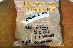 How to Make your Own Brownie Mix - Lovefoodies hanging out! Tease your taste buds!