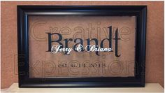 personalized vinyl wedding gifts - Google Search