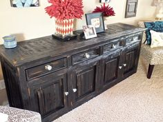 bar, black, buffet, chunky, credenza, finish, finishes, furniture, heavy, house of rumours, paint, refinished, rustic, shabby chic, sideboard, tres amigos, wormwood