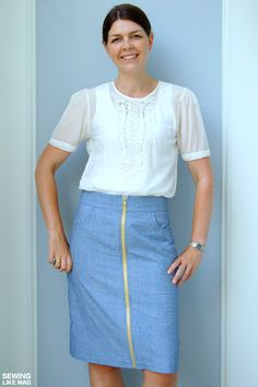 Pleated Pencil Skirt Pattern Re-Mix with Sewing Like Mad