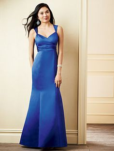 Alfred Angelo Bridesmaid Style 7273L in Mediterranean Blue