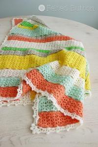 Citrus Stripe Blanket free pattern