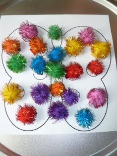 pom pom magnets for mosaic butterfly