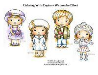 handmad card, watercolor, stamp, copic class, copic inspir, lovelala land, cranberri hill, copic marker, copic color