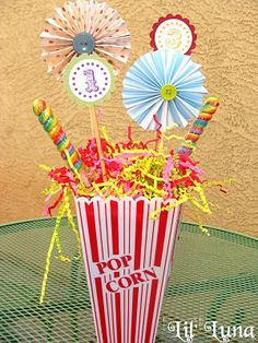 carnival centerpiece idea