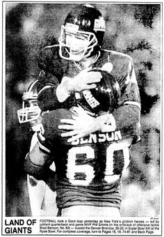 "A photo of Super Bowl XXI  MVP Phil Simms (quarterbacking the New York Giants), published in the Boston Herald newspaper (Boston, Massachusetts), 26 January 1987. Read more on the GenealogyBank blog: ""NFL Family Trees: The Genealogy of 5 Famous Football Families."" http://blog.genealogybank.com/nfl-family-trees-the-genealogy-of-5-famous-football-families.html"