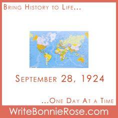 Timeline Worksheet: September 28, 1924, Geography Worksheet - WriteBonnieRose.com