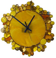 Cool stained glass clock!