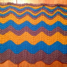 Chevron Throw - great for leftover yarns