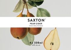 Saxton Cider packaging designed by Supply, New Zealand