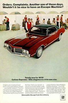 1970 Oldsmobile cutlass.