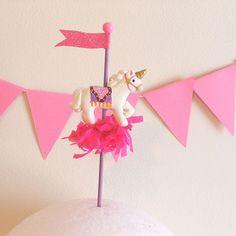 Unicorn Cupcake Topper/Cake Decoration/Birthday by PartyPopPop, $15.00