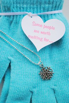 Frozen Snowflake Necklace and Gloves #frozen #worthmeltingfor