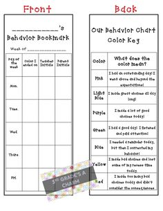 Buzzing with Ms. B: Behavior charts