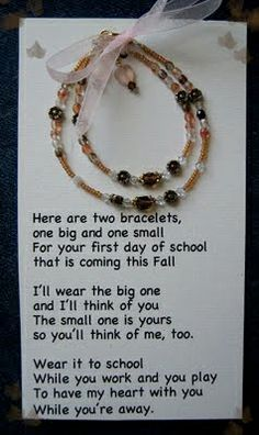 Back to School Traditions.  Such a cool bracelet idea!!