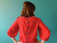 {the Mathilde Blouse Sewing Pattern} by @Tilly - must make this! I love button-up-back tops!