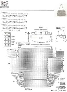 diagram for crochet purse, #free #crochet #pattern <3ceruleana<3