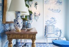 www.thisisglamorous.com | Décor Inspiration : Toile & de Gournay (by {this is glamorous})