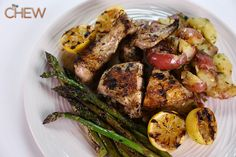 Carla Hall's Herb Chicken with Smash Potatoes and Grilled Asparagus #TheChew