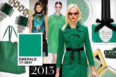 LOVE the Pantone colour of the year!!!! Emerald!