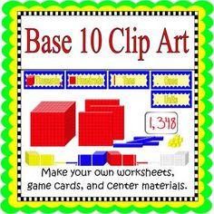 FREE! Base Ten Clip Art