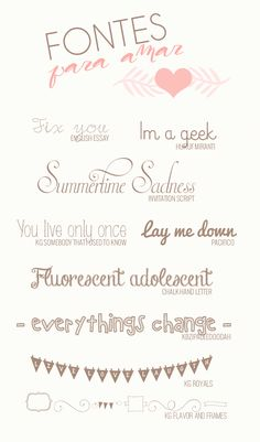 my favorite fonts fo