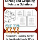 This is a common core type thinking activity designed to get your student to understand that points are solutions.  Students will be working cooper...