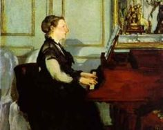 Madame Manet at the piano - Edouard Manet, 1868