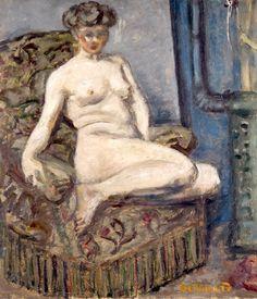 model in armchair - pierre bonnard