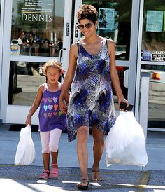 Halle Berry and her daughter