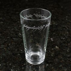 Lord of the Rings - One Ring Inscription Pint Glass for $10.00