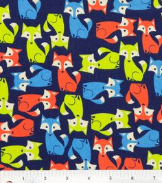 Fun Fox Fabric By The Yard FBTY by CutiePieCraftSupply on Etsy, $10.00