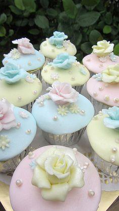 pastel flowers pastel, cupcakesyummi cupcak, baby shower foods, flower cupcakes, sweet desserts, cupcake cakes, healthy desserts, cake recipes, baby showers