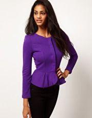 purpl peplum, aso peplum, peplum jacket, thing peplum, fashionista wannab, purple, jackets, girl style, style pinboard