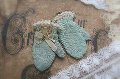 ~ antique doll mittens c1900