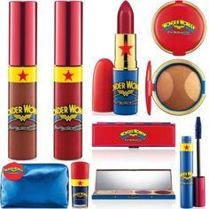 MAC Wonder Woman collection.... I NEEEEEDDDDD. product, geek, mac wonder, style, mac makeup, makeup collection, jewelri fashionjewelri, wonderwoman, retro makeup