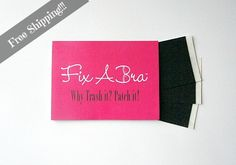 Why trash your favorite bra because of under wire breakthroughs? Fix A Bra is a pre-cut moleskin patch with an adhesive designed for garments. Each pack comes with 30 tabs in your choice of black or nude. Made in the USA. Free Shipping! http://buff.ly/UFsOYI