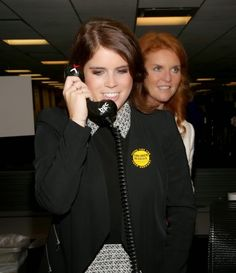 Duchess of York Sarah Ferguson (R) and Princess Eugenie of York Eugenie attends Annual Charity Day 2014 in NY City.