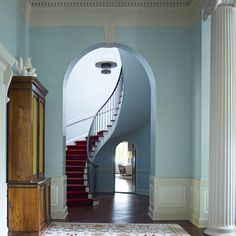 interior, stairs, red, blue, staircase design, dreami decor, hous, spiral staircases, curv