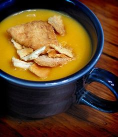 Kitchn see smitten carrot soup Recipe: Sweet Potato Soup with Miso and Ginger