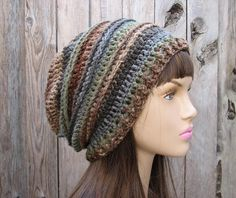 Hand Crochet Hat - Slouchy Hat -Multicolored - Winter Accessories, Autumn Accessories, Fall Fashion,Beanie